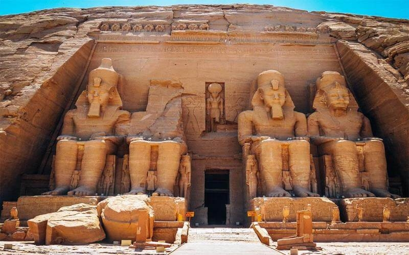 Abu Simbel temple one of the most famous altogether of Egypt after the Giza Pyramids. Built by the best of the pharaohs, king Ramses