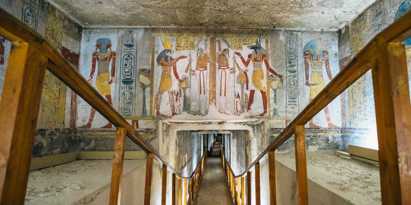 Inteiror of the Rock Cut TOmb of Amun Iuf Ankh