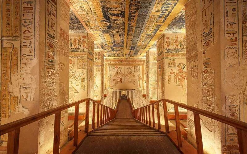 Unique shot of the Ramesses VI tomb in Valley of the Kings. Top things to do in Luxor