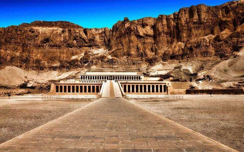 General view of Hatshepsut temple at the west bank of Luxor