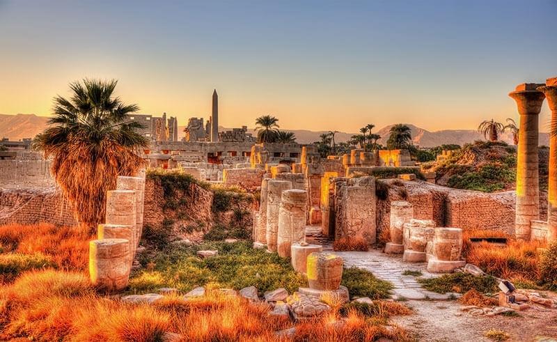 ruins of karnak Temples