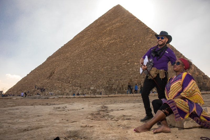 Egyptian guide descipe his Rich Cultural Heritage