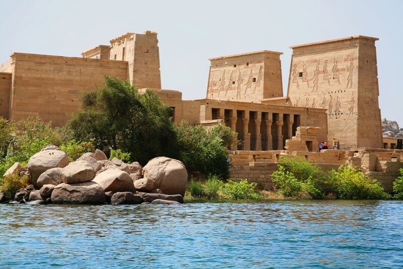 the incredible philae temple in Aswan city, one of the top sights in Budget Egypt Tours