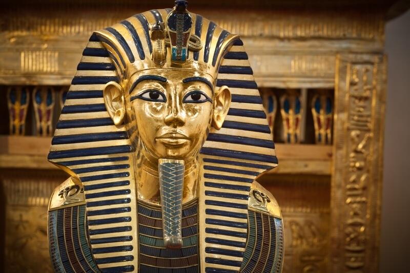 king tut musk at the Egyptian musuem