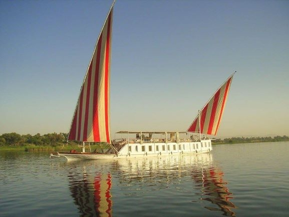 Egypt Luxury Vacation &sail onboard The Luxury Dahabiya Nour El Nil.