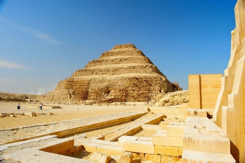 Saqqara Pyramids are considered the oldest pyramids in Egypt.