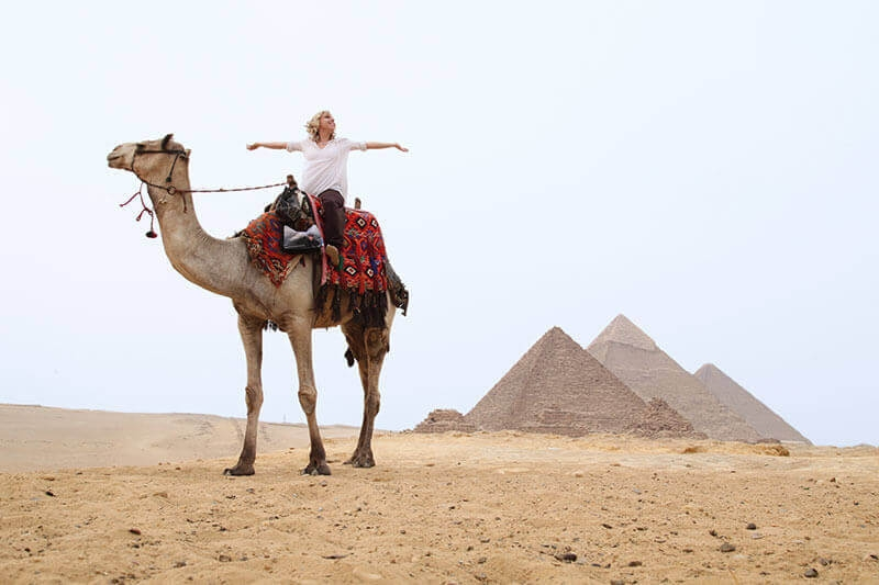 Camel ride is an amazing adventure around the great Pyramids of Giza, one of the top sights in Budget Egypt Tours
