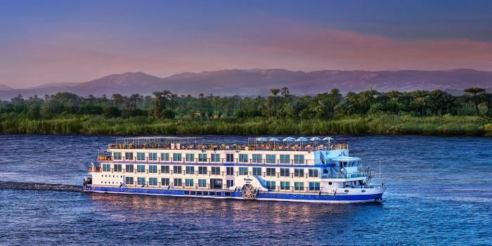 sailing on board the Luxury  royal Lilly Nile cruise.