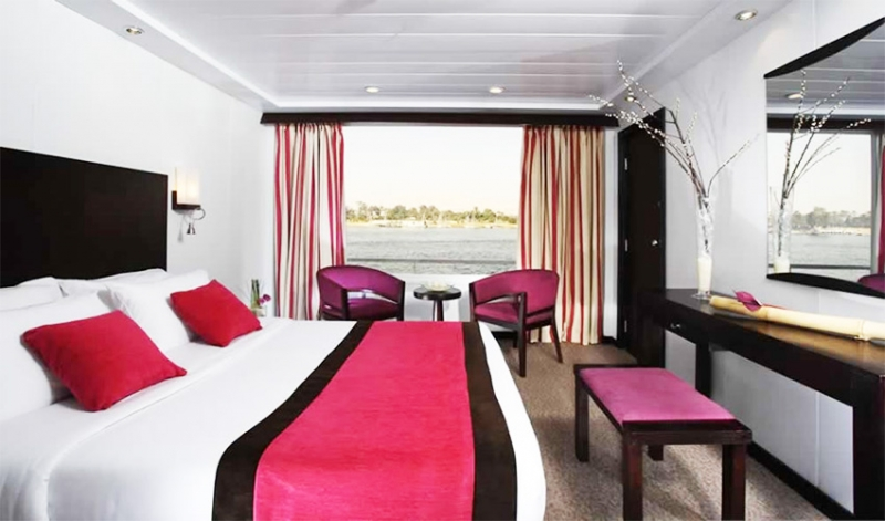 Enjoy your cabin onboard the MS Movenpick Royal Lily Nile cruise sailing between Luxor and Aswan with the best online price. Start from $660 only. Book Now your luxury Nile cruise!